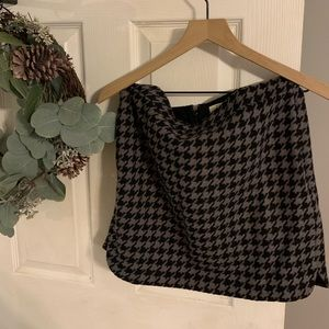 J. Crew Houndstooth Mini Skirt